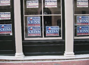 Judge Susan Criss Photo of Supreme Court Campaign Poster